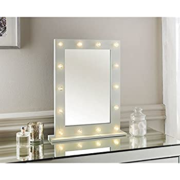 89ab3234491 New Hollywood LED light detailed Dressing Table Mirror -40 X 50 x 10cm  (Approx.)