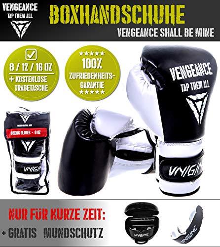 Team Chinese Box (Vengeance Premium Boxhandschuhe | +GRATIS MUNDSCHUTZ(Werbeaktion)+Tragetasche+E-Book (HCG-Diät) | Boxen, Kickboxen, Muay Thai, MMA | verstärkter Knöchel- und Gelenkschutz | Profi-Handschuhe (16 oz))