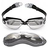 Bezzee-Pro Gafas de Natación para Adultos - Lentes Espejo - Hermético - Ajustable - Gafas de Natación para Adultos con Visión De 180 Grados - Lo Mejor para Hombres, Mujeres