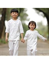 peiwen Deportes al Aire Libre Ropa de Yoga para niños de algodón Natural y  Lino 0d13000b676b