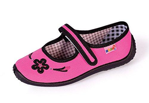 Mädchen Hausschuhe, Ballerinas, verschiedene Farben und Designs, Gr. 25 bis 40 001DC Rosa