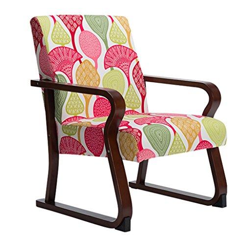 ERRU-Chaises Chaise à manger en bois massif de mode nordique/Étude de bureau ménager Chaises de table de café(54 * 74 * 86CM, couleur en option) (Couleur : Marron, taille : 4 Pieces)