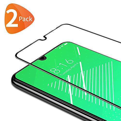 Bewahly für Panzerglas Schutzfolie für Xiaomi Redmi Note 7 [2 Stück], 9H Härte Panzerglasfolie Ultra Dünn HD Bildschirmschutzfolie Full Screen Glas Folie für Redmi Note 7 / Redmi Note 7 Pro - Schwarz