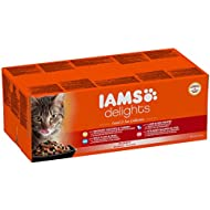 Iams Delights Land & Sea Collection in Sauce, 48 x 85 g