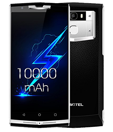 """Móvile y Smartphone Libre,OUKITEL K10000 Pro Teléfono Móvile Libre 4G Huella Digital Barato 10000mAh 5,5"""" Android 7.0 OctaCore 5.0MP+13.0MP Cámara 3GB RAM+32GB ROM Dual Sim -Negro"""