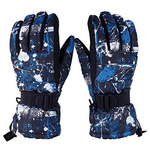AsDlg Herren Bergsteigen warme Handschuhe, Skihandschuhe, Winddicht wasserdicht atmungsaktiv im Freien Anti-Rutsch für Skifahren, Wandern, Camping, Radfahren, Laufen (größe : XL)