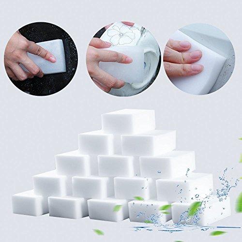 20 Packungen Weißer Peeling-Schwamm, Nicht-Scratch-Peeling-Schwamm zum Reinigen von Küchen, Bad, Töpfen, Pfannen, Spülbecken usw. -