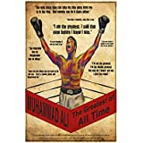 Muhammad Ali Poster For Room | Motivational Poster | Inspirational Poster | Quotes Poster | Boxing Poster | Poster For Stratup