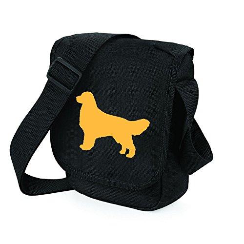 Bag Pixie - Borsa a tracolla unisex adulti Darker Golden on Black