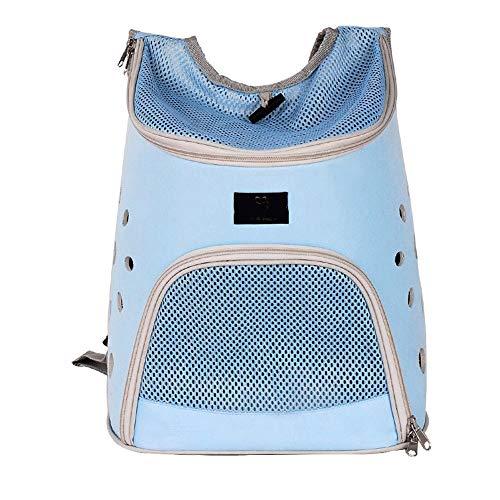 MUBAY Pet Carrier Bag, Pet Carrier Rucksack atmungsaktiv, Doppel-Umhängetasche zum Wandern, Outdoor, Sport 3 Farben (Color : Blue) -