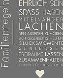 GRAZDesign 300126_40_WT816 Wandtattoo Familie -Familienregeln | in Vielen Farben | lustige Wand-Sprüche für Dein Zuhause | Selbstklebende Wand-Folie (50x40cm//816 Antique White)
