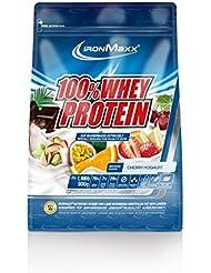 IronMaxx 100% Whey Protein / Whey Eiweißpulver auf Wasserbasis / Proteinshake mit Kirsche-Joghurt Geschmack / 1 x 900 g Beutel