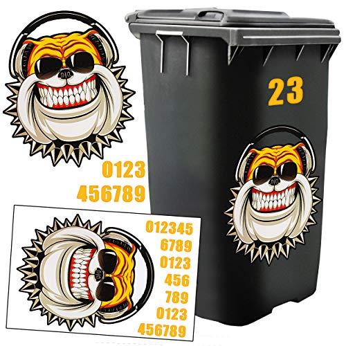 Eisenwaren Tri Mülltonnen Sticker Hausnummern Plaketten