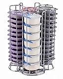 EXZACT EX-TS084-52 Support de capsule de café, compatible avec des capsules de Tassimo (52pcs) - Support de tour rotatif