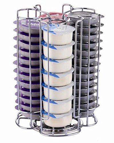 Exzact EX-TS084-52 Soporte para Cápsula Compatible para cápsulas de café Tassimo (52 Piezas) - Soporte Giratorio para Torre de cápsulas