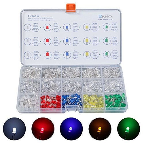 Amazon.de - Elegoo - 600pcs - 3mm and 5mm LED Kit with Storage Box