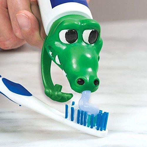 Zahnpasta Kappe als Krokodilkopf für Spaß beim Zähne putzen