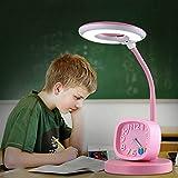 LED Schüler Schreibtischlampe Junge Mädchen Touch Tischleuchte Schützen Sie Augen Einstellen Winkel 3 Mode Switch (Color : Pink)