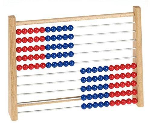 Betzold Rechenrahmen Kinder rot / blau, Abakus Rechenschieber - Mathematik Rechnen lernen Zahlen Schule Kinder Schüler Unterricht Lehrmittel üben Übungen Rechenaufgaben Mathematikaufgaben