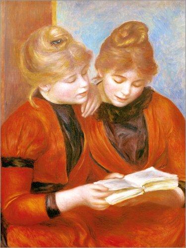 Holzbild 100 x 130 cm: Die beiden Schwestern von Pierre-Auguste Renoir/akg-Images