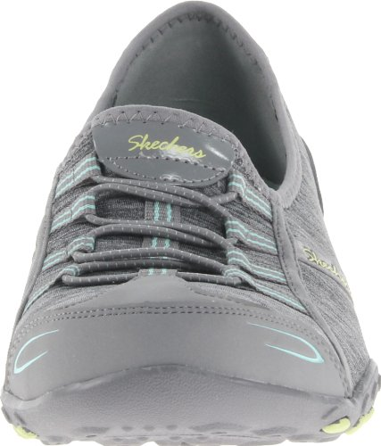 Skechers - Breathe-easy allure, Scarpe da ginnastica Donna Gray/Aqua