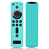 Remote Case/Cover for Fire TV Stick 4K,Protective Silicone Holder Lightweight[Anti Slip]ShockProof for Fire TV Cube/Fire TV(3rd Gen)Compatible with All-New 2nd Gen Alexa Voice Remote Control-Turquoise