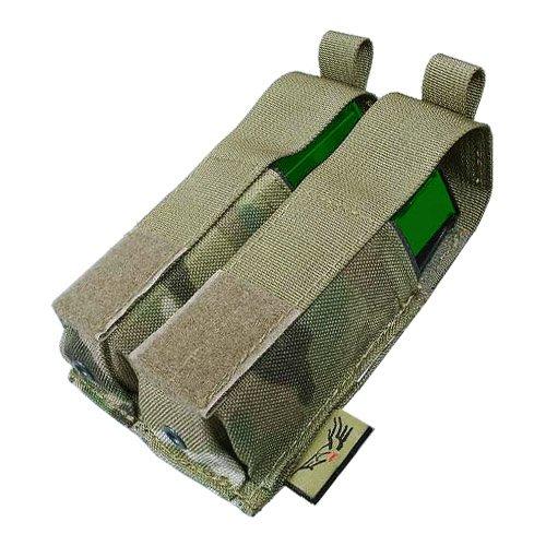 FLYYE Doppel 9mm Pistole Magazintasche Ver. HP MOLLE MultiCam (Magazintasche Doppel-9mm)