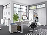 möbelando Büro-Set Arbeitszimmer Büroprogramm Büromöbel Komplettset Büro Hamburg III
