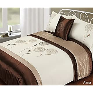 Rapport Alma Bag' Bedding Set, Polyester, Latte, King