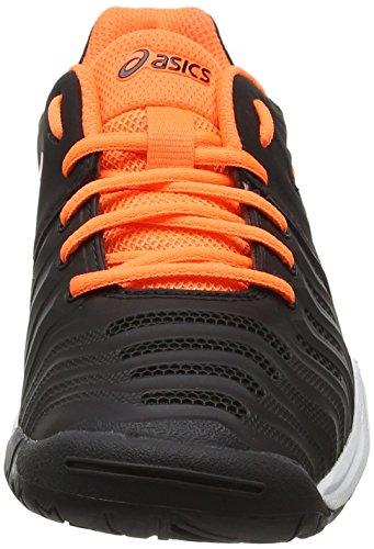 Asics Gel-Resolution 7 Gs, Chaussures de Tennis Mixte Enfant Noir (Black/shocking Orange/white)