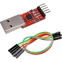 IZOKEE CP2102 Modul USB zu TTL 5PIN Seriell Konverter Adapter Modul, UART STC Downloader für 3.3V und 5V mit Jumper Kabel (1 Stück)