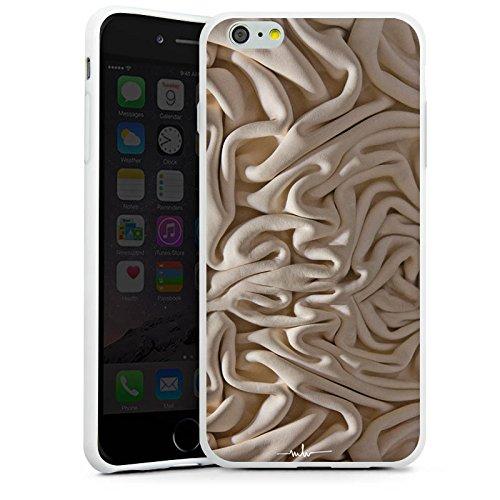 Apple iPhone X Silikon Hülle Case Schutzhülle Stoff Decke Mode Silikon Case weiß