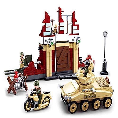 Montiert Bausteine   Kinder pädagogisches Spielzeug Jungen Militär Panzer verteidigen Schlacht Geburtstag Geschenke ()