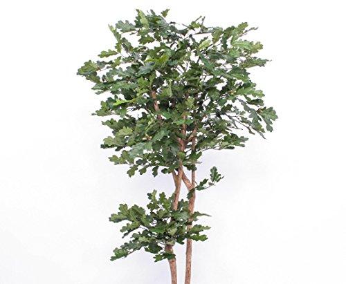 Künstlicher Eichenbaum mit 2 Echtstämme, 1054 Blätter, Höhe 180cm – Kunstpflanze künstliche Blumen Kunstblumen Blumensträuße künstlich, Seidenblumen oder Blumen aus Plastik