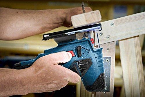 Bosch Professional GST 10,8 V-LI Akku-Stichsäge, Schrägschnitte 0-45 Grad, Schnitttiefe 70 mm Holz, 3 mm Alu/Metall, Solo Version, L-BOXX, 1 Stück, 06015A1002 - 2