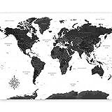 murando Papier peint intissé Carte du monde 300x210 cm Décoration Murale XXL Poster Tableaux Muraux Tapisserie Photo Trompe l'oeil Voyage Géographie k-A-0422-a-a