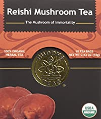 Reishi Mushroom Tea - Organic Herbs - 18 Bleach Free Tea Bags