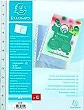Exacompta 56270E Recharge 20 Pochettes pour Reliure A Anneaux Detachable Polypropylene A4