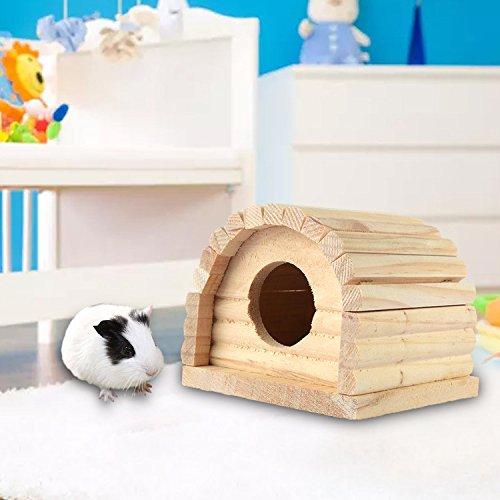 Nette hölzerne Haushütte für Hamster Rennmäuse (Rennmaus-haus)
