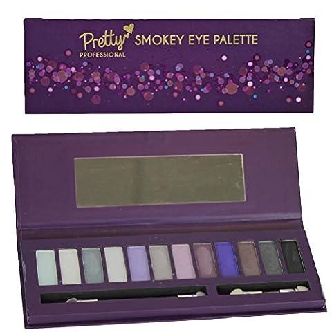 Pretty Professionnel Make Up Gifts–14pièces Palette Yeux–Smokey ou naturel