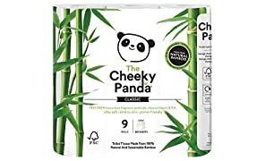 The Cheeky Panda Ultra Sustainable Hypoallergenic 100% Bamboo Toilet Roll a Pack of 9