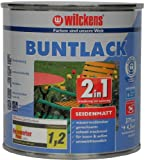Wilckens 2in1 Buntlack seidenmatt, RAL 9005 tiefschwarz, 375 ml 12490500030