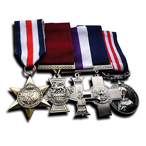 5x Medaille Gruppe das Victoria Kreuz, Militär Medaille, Militär Kreuz, Frankreich und Deutschland Star & George Kreuz Replikatsatzes. speziell für Sammler, die für die Medal of Honor, Auszeichnungen Medaillen, Armee Medaillen, Medal of Valor suchen (Deutschland Militär-uniform)