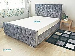 ComfyCraft Florida Upholstered Chenille bed frame in different (4FT6 BED FRAME, GREY)