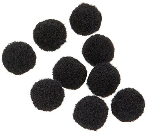Darice 100Stück, 10Millimeter Acryl Pom Poms, schwarz -