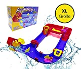 TK Gruppe Timo Klingler XXL Wasserstraße Wasserspielzeug Wasserrutsche Wasserbahn Wasserspiel Waterplay blau Extended X5 für Kinder im Sommer (XXL- Größe)