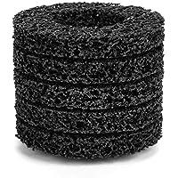 5 Unids Poly Strip Wheel Disco Herramienta de Eliminación de óxido de óxido Limpiador de ángulo de calidad Discos Negro 100mm 60#