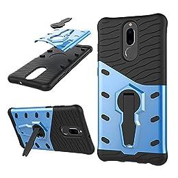 Funda Mate 10 Lite / G10 Carcasa 360 Grados de Rotación Soporte ,TPU + PC de Combinación a Prueba de Golpes,Híbrido Defender Carcasa Duro Prueba de Choques y Dustproof de Caja Protectora para Huawei (Mate 10 Lite, Azul)
