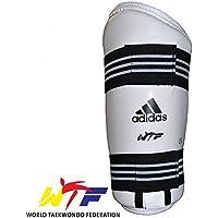 adidas Martial Arts, WTF Taekwondo Antebrazo protectores–Color Blanco