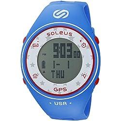 Soleus GPS One ' Quartz Plastic Fitness Watch, Color:Blue (Model: SG011-415)
